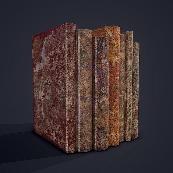 Medieval Books Row 1 Design 2
