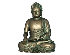 Buddha 3D print model 3D model VR / AR ready