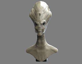 Alien Bust 10 3D print model