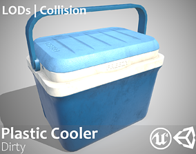 3D asset Plastic Cooler Dirty - Updated for 2021