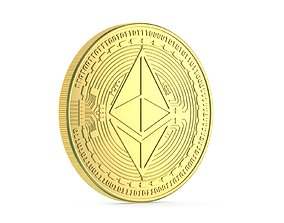 Ethereum Coin New 3D