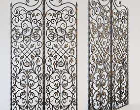 door 3D model Decorative grille