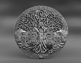 3D printable model woden Odin wolves Pendant