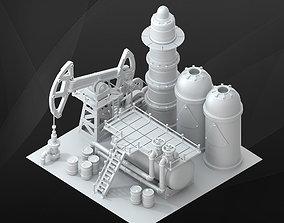 3D Game Building - Oil Derrick