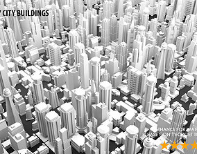 Low Poly City Buildings 3D model