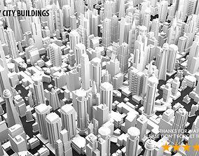 Low Poly City Buildings 3D model