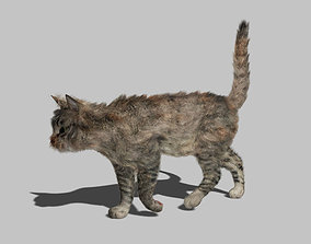 3D model VR / AR ready Cat - Rigged Animated