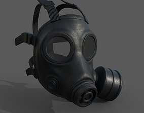 Gas mask helmet 3d model low-poly