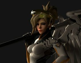 Overwatch Mercy Textured and Rigged 3D model