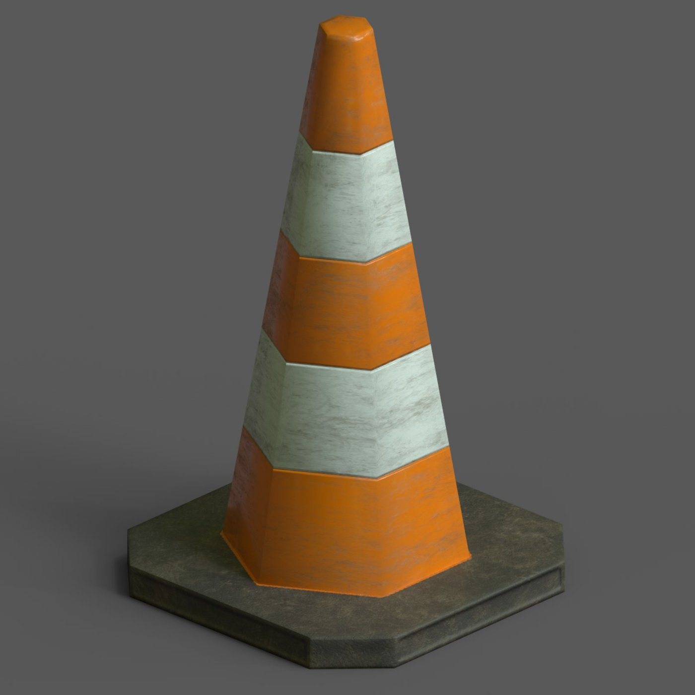 Lowpoly Pbr Game Ready Traffic Cone
