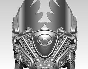 Harley Biker Wings Engine Moto Man Ring 3D printable model
