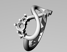 3D printable model ring infinity love