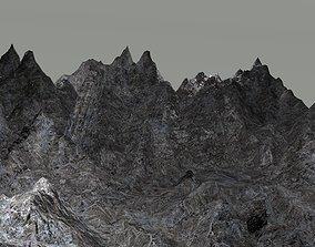 3D model Mountain landscape countryside