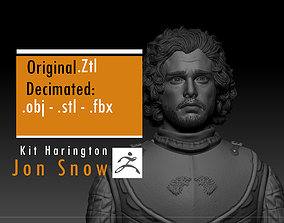 3D printable model Kit Harington - Jon Snow - Game Of