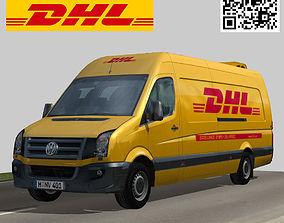 Volkswagen DHL delivery bus 3D model