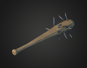 3D asset Spiked Baseball Bat