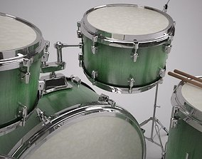 Detailed Drum Kit Model