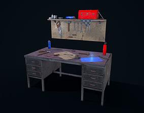 3D asset low-poly saw Workbench