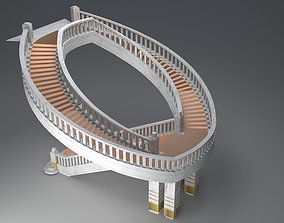 3D Helical Stairs staircase
