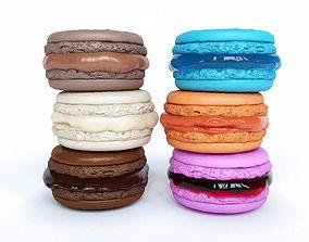Set Macarons 3D vanilla
