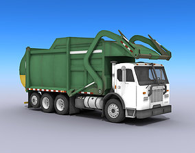 3D asset Garbage Truck
