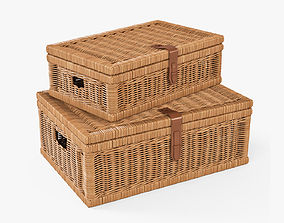 Wicker Basket 6 Toasted Oat Color 3D