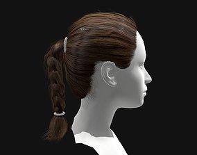 game-ready 3D Hair Female Short Plaited Hairstyles