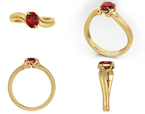 3D print model Snake Ring Solitaire
