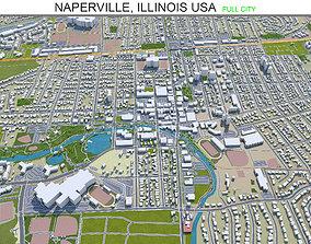 3D model Naperville Illinois USA 30km