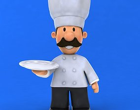 3D model Fun cartoon Chef