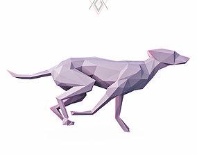 3D model Dog Run Pose Low Poly
