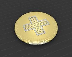 3D print model christian gold Cross Medallion