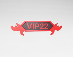 Game VIP Symbol v4 008 3D asset