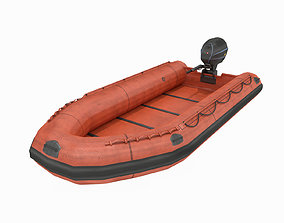 Inflatable Boat - Lifeboat 3D model