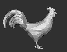 3D print model Chicken Rooster low Polygon