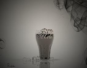 3D model Glass Coca Cola