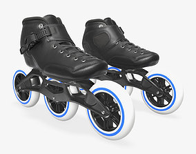 3D model Roller skates racing