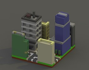 City Block Voxel Model