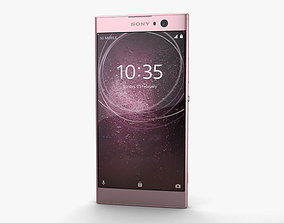3D model touchscreen Sony Xperia XA2 Pink