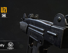 Mini UZI 3D model game-ready