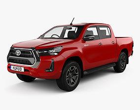 3D model Toyota Hilux Double Cab 2020
