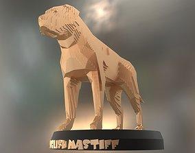 Parametric English Mastiff 3D asset