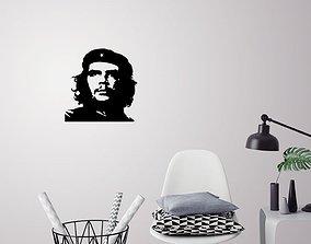 Che Guevara silhouette wall art 3D printable model