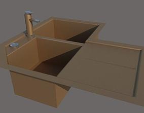 corner kitchen sink 3D model