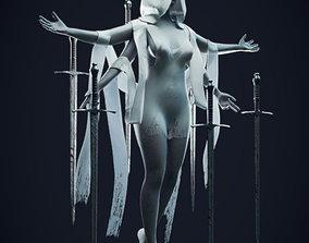 3D The Queen of Swords