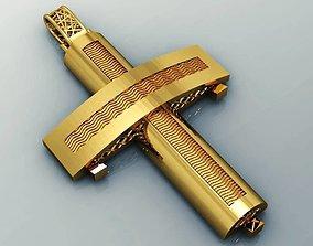 greek pendant cross 6 curch jesus 3D printable model 3