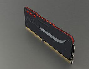 SDRAM DIMM Memory 3D asset