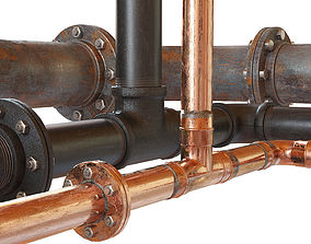 Pipe set connector 3D