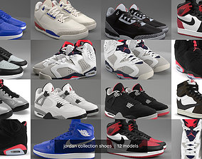 jordan collection shoes 3D