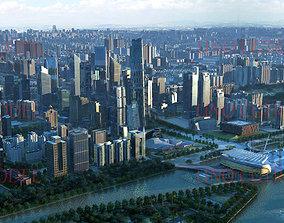 GuangZhou cityscape 3D model